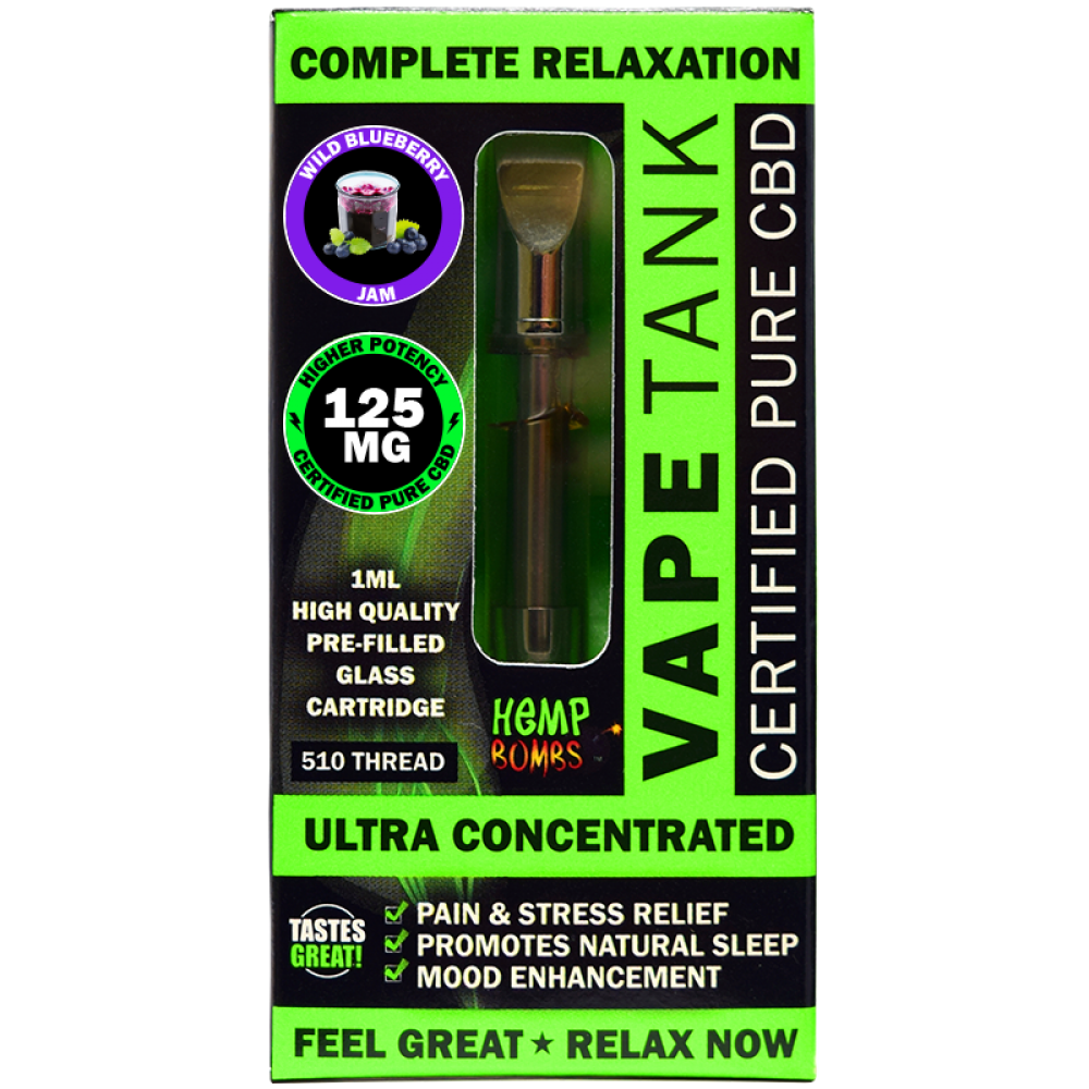 Hemp Bombs 300mg CBD Vape Tank